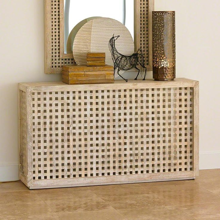Driftwood Lattice Console Table By Global Views. Use To Cover Ac Unit, Put  My Plants On Top By The Window ☺