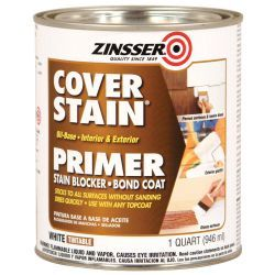 Use this primer before painting oak trim.  No sanding needed.