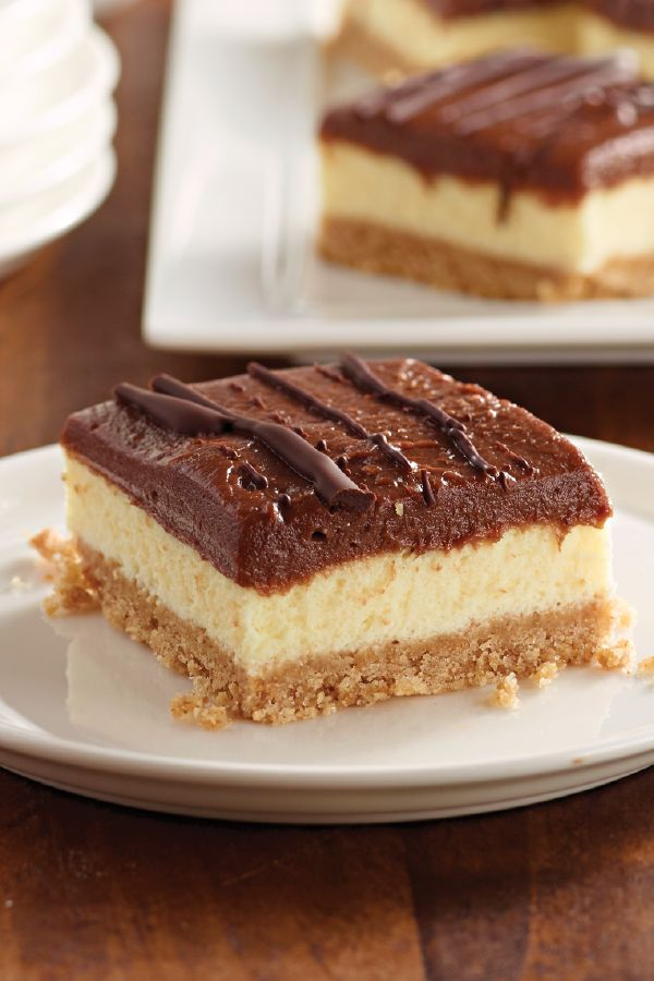 JELL-O No-Bake Chocolate Cheesecake Bars – The cheesecake mix helps make these frozen no-bake bars so easy to make. You'll want to save this dessert recipe for those days when you're in a pinch.