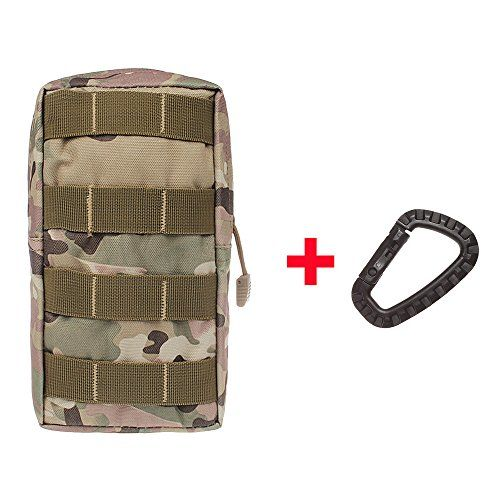 xhorizon TM SR Waterproof Molle Bag, Utility Tactical Molle Pouch, Outdoor Sundries Waist Bag, Casual Climbing Hiking Outdoor Rock Gear Holster Pouch Cycling Carrying Pocket