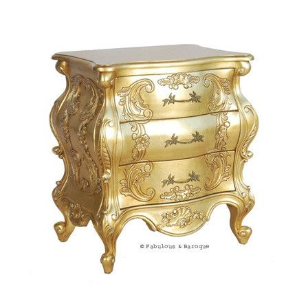 Night 39 s dream side table french ornate modern baroque for Modern baroque furniture