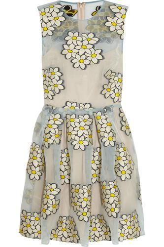 Fil coupé organza mini dress #dress #women #covetme #redvalentino