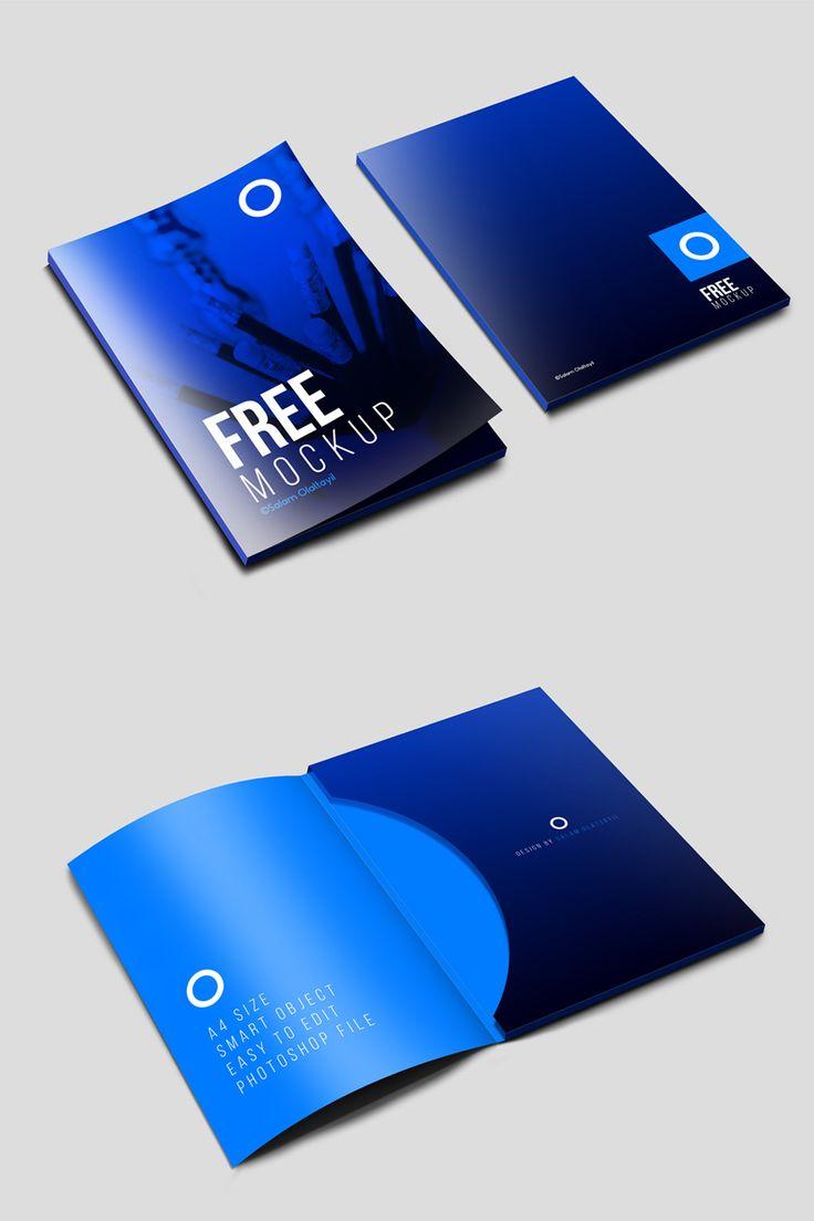 Free Folder Psd Mockups Folder Psd Stationery Mockup Folder Mockup