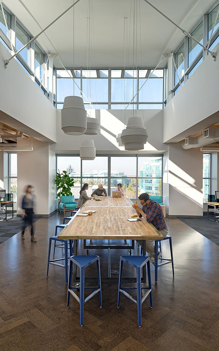 Delta pendants by Rich Brilliant Willing | Inside Zazzle's Sleek New Headquarters | Co.Design | business + designWorkplace Design, Studios Design, Amazing Interiors, Offices Spaces, Creative Offices, Interiors Design, Workplace Interiors, Zazzle Studios, Design Studios
