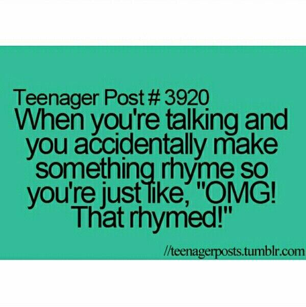 That rhymed!