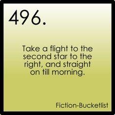 Fiction Bucket List -  Peter Pan