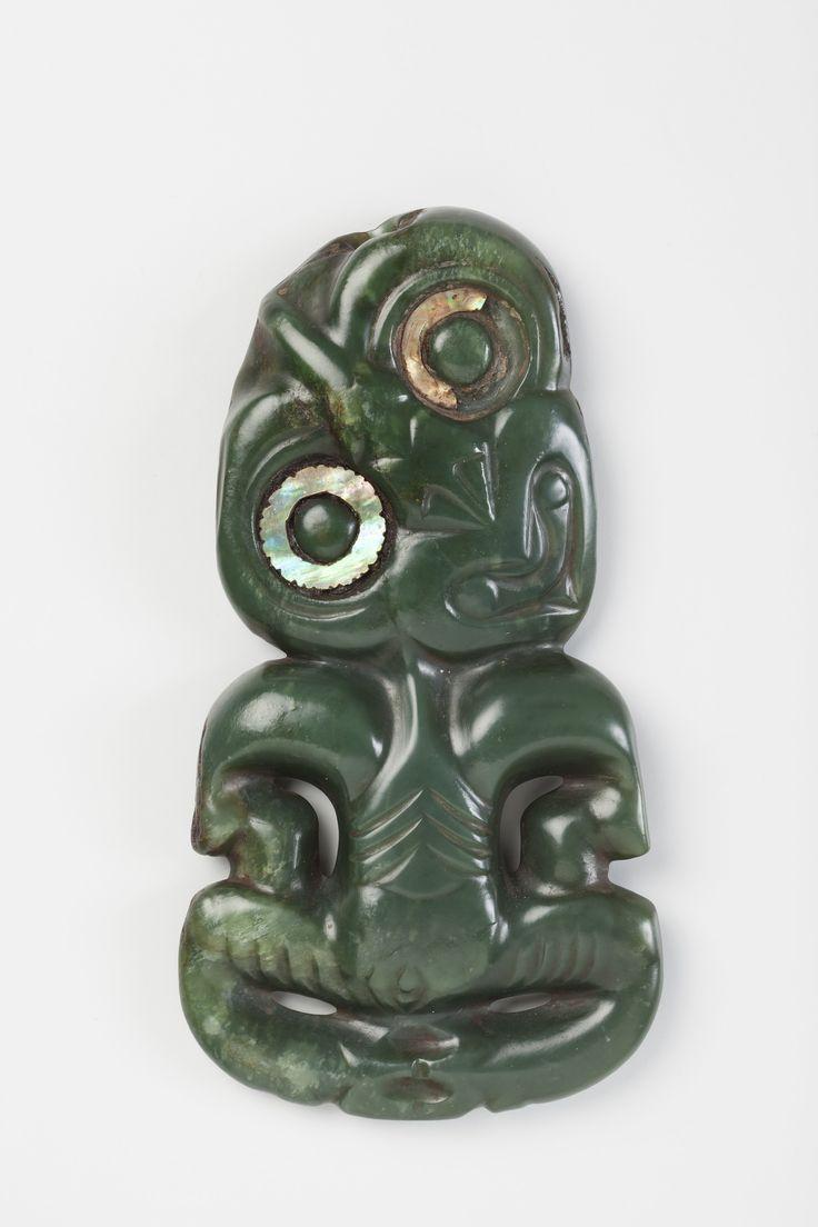 New zealand maori hei tiki pounamu nephrite jade