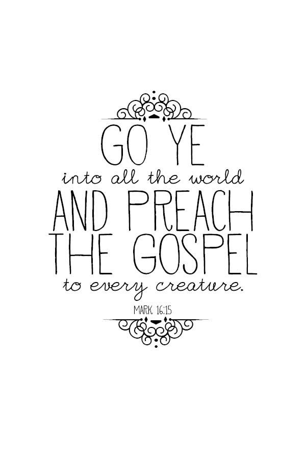 Preach the Gospel scripture card printable {via Etsy}