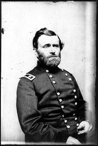 The Battle of Shiloh, April 6,7, 1862. Pictured:U.S. Grant