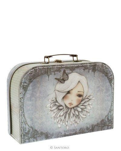 Santoro London Large Suitcase Box-Mirabelle Augustine
