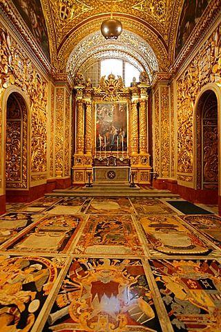 Malta, La Valeta, San Juan' s Co-catedral, interior.