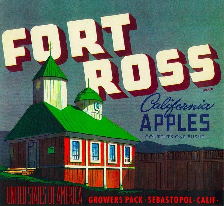 Sebastopol California Fort Ross Apple Apples Fruit Crate Label Vintage Art Print | Collectibles, Advertising, Merchandise & Memorabilia | eBay!