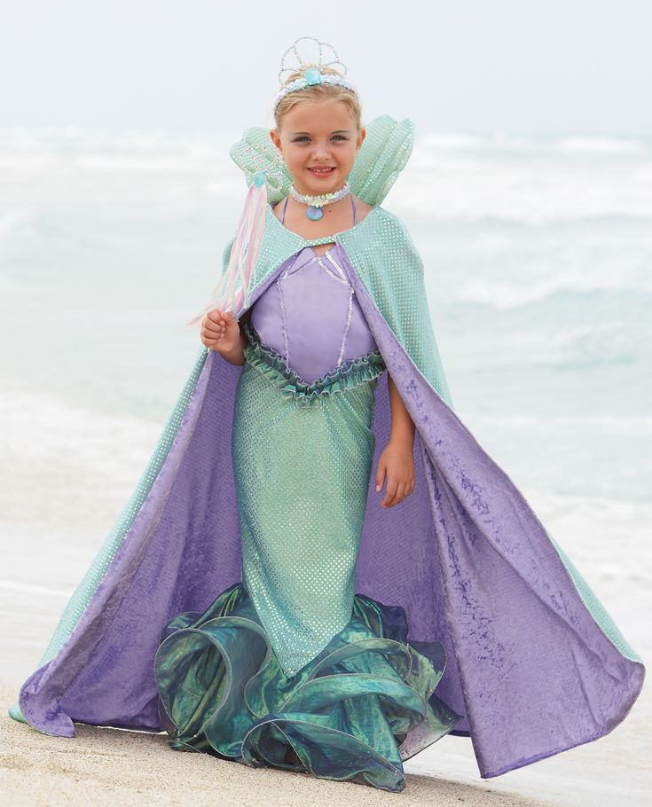 mermaid costumes for girls while the cape will keep her warm other accessories like - Mermaid Halloween Costume For Kids