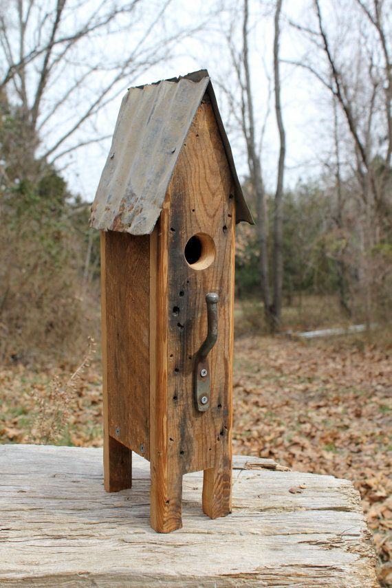 832 best bird feeders and butterfly gardens images on pinterest rustic bird house from salvaged and found by blackbirdstew on etsy solutioingenieria Gallery