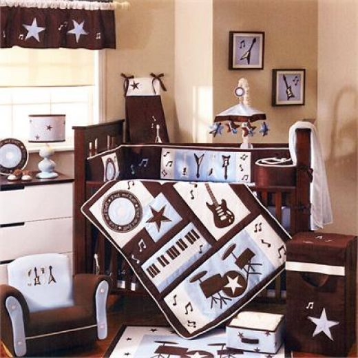 Nursery Room Music Decorations Rock And Roll Guitar