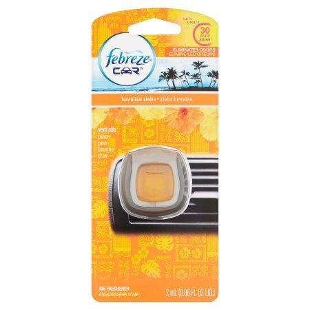 Febreze Car Vents Clips Hawaiian Aloha Air Freshener, 0.06 oz