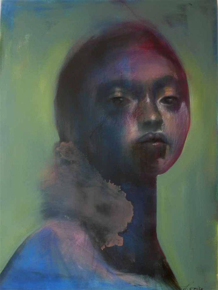 Saudade III by Louisa Betteridge. Oil and pastel on canvas