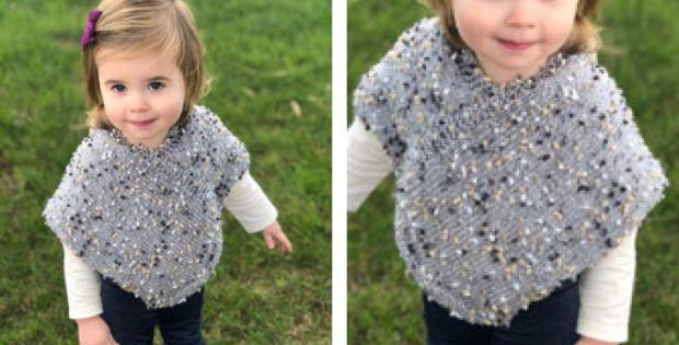 Easy Crochet Pattern Toddler Hooded Poncho You Won't Believe How