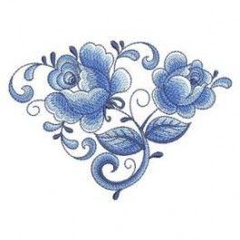 Delft Blue Roses 2