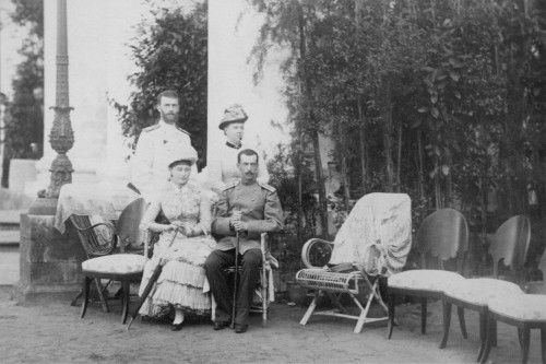 Grand Duke Serge, Grand Duchess Maria Alexandrovna, Grand Duchess Elizabeth and Grand Duke Paul at the Youssoupoff's Arkhangelskoe estate. The Youssoupoff's often hosted various members of royalty, however Grand Duke Serge and his wife Elizabeth, were not only neighbors but close friends.