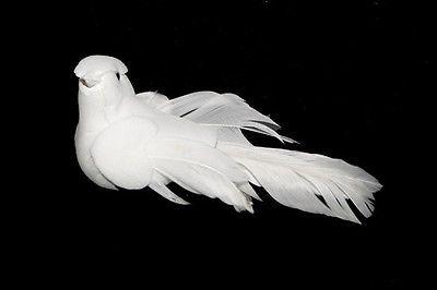 12 Artificial Doves, White Fake Dove,Christmas Birds, Artificial Bird,Dora X 12