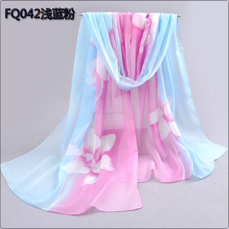 Brand Woman Silk Scarf Printing Hijab Women's Scarves Fashion Chiffon Silk soft Scarfs Shawl Scarves Wraps 160*50cm