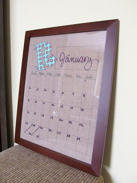 dry erase board: Wall Art, Era Calendar, Cute Ideas, Cottages Hill, Calendar Wall, Dry Erase Calendar, Diy Dry, Old Pictures, Pictures Frames