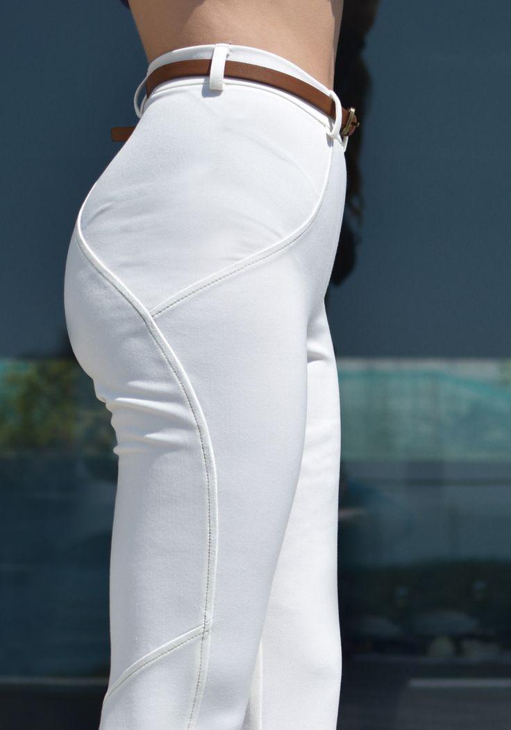 WHITE CIGARETTE TROUSERS #Stylati #trousers #zipper #white #fashion #style