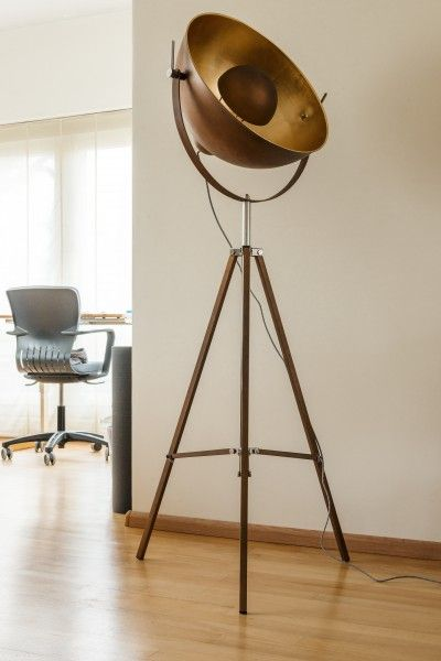 Chicago staande lamp in antieke koper- en goudkleur | made.com