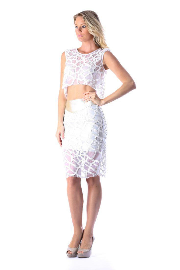 BELIZE CROP TOP & CABEZA SKIRT  http://runwaydream.com.au/belize-crop-top-cabeza-skirt-ixiah-378?options=cart Retail: $439.90 Hire:  $109