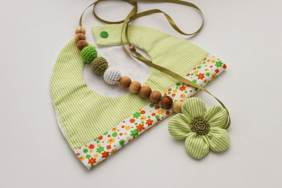 Olive Green Gift Set Nursing Necklace/Teething and by CasaDeGato, $30.00
