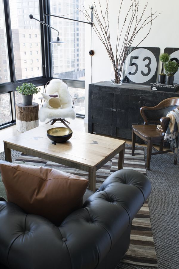 Vintage masculine. Rustic meets Manhattan manly. Why am I trying to put a label on it when it already tells a story we can all understand? It's an eclectic mix of country in the city with a hint of in