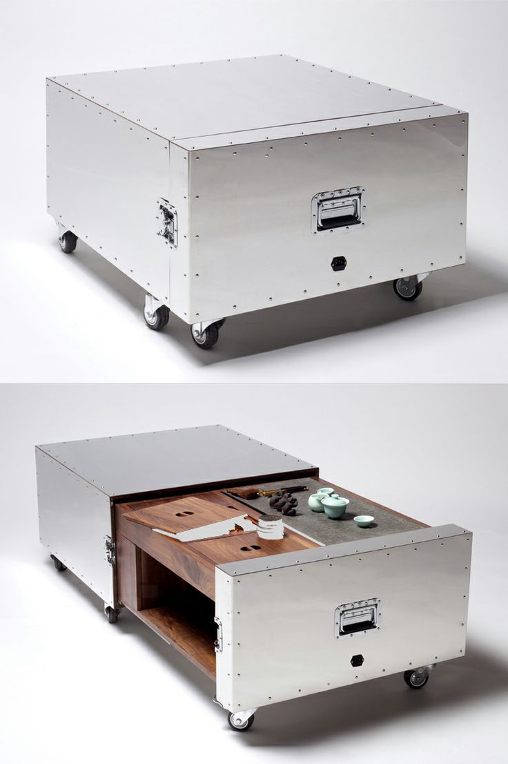 High Quality Is It A Metal Crate Or Functional Coffee Table? Beautiful Done Hidden  Furniture Images
