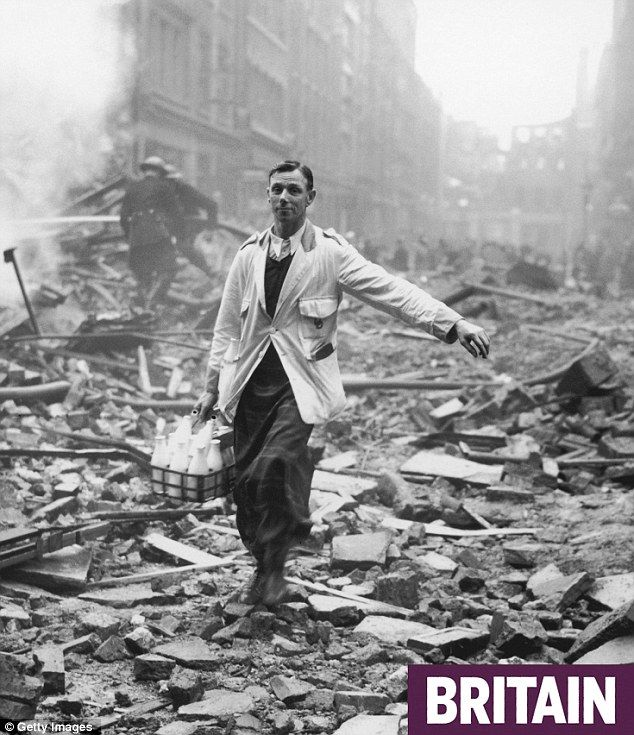 Life must go on...WWII London bombing site