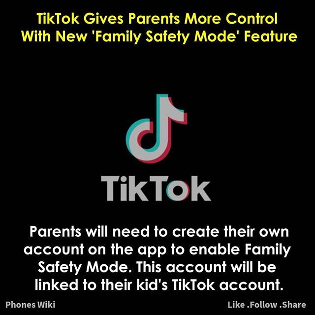 New Update For Tiktok Parents Can Now Control What Their Child Sees On Tiktok And How Much Time They Can Spend On The A In 2020 Family Safety Tech News New Technology