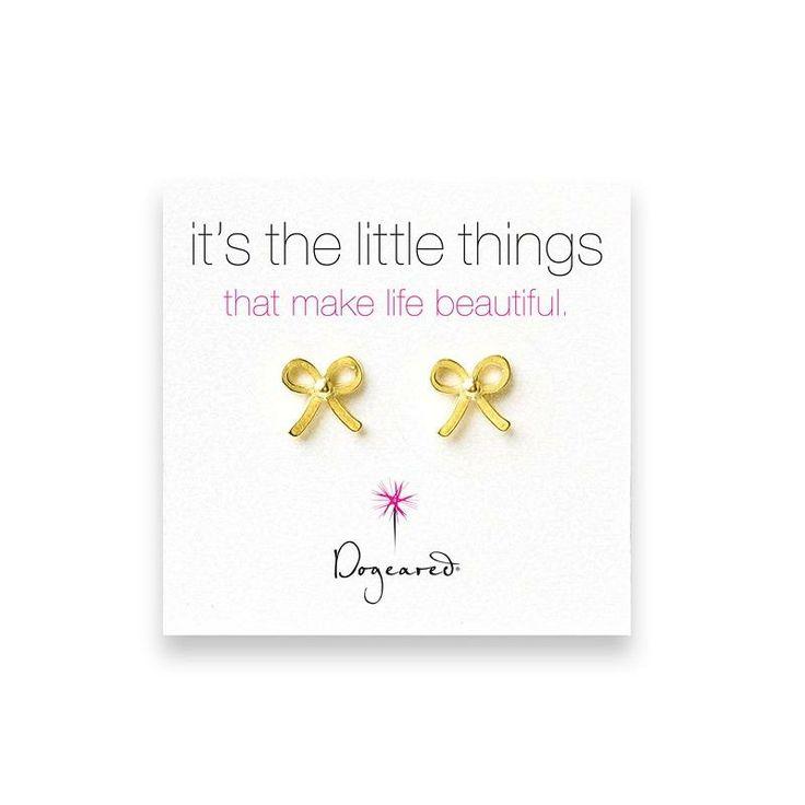 Dogeared Gold Bow Earrings