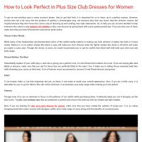 Infographic: How to Look Perfect in Plus Size Club Dresses for Women