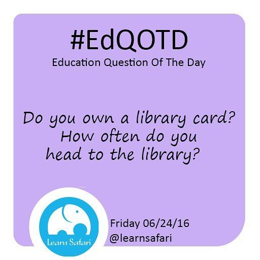 Did you know Libraries offer much more than amazing books? Tell us all about your libray card and how best to use it :) #EdQOTD #library #learnspanish #booklover #teachersofinstagram #parenting #homeschool #edtech #elearning #smartapp