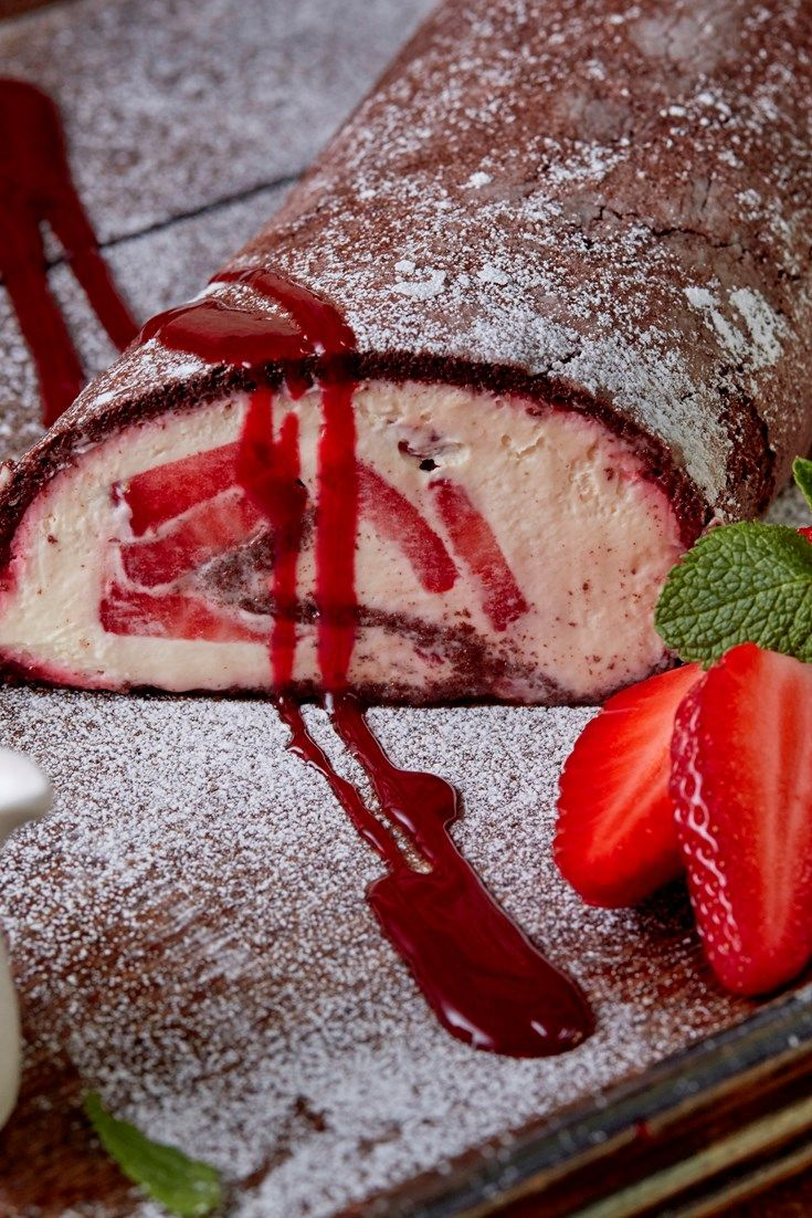 Steven Doherty's stunning chocolate roulade recipe counters the richness of a sweet cream filling with fresh berries. This chocolate dessert would make a fantastic centrepiece after a Sunday lunch.
