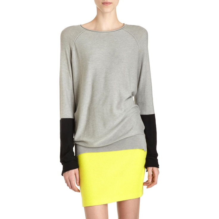 Pretty simple, but I'm obsessed.  T by Alexander Wang w/ a neon yellow skirt.