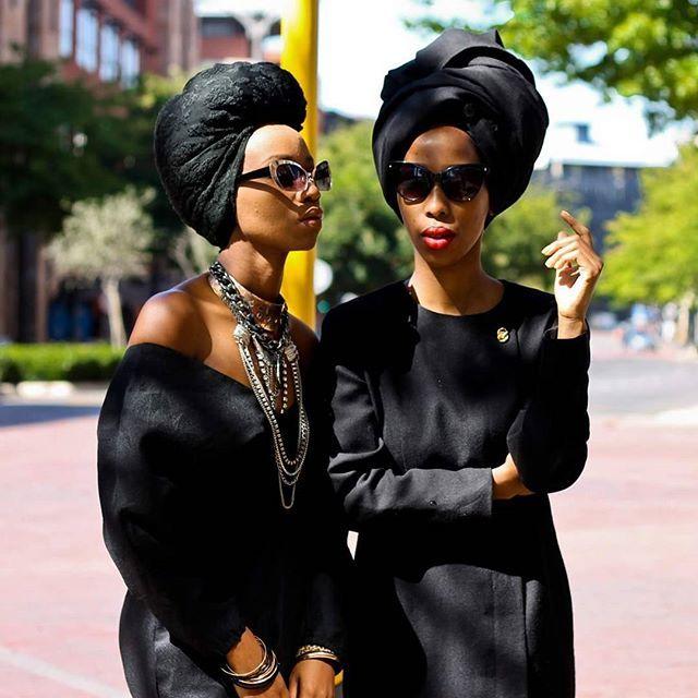 This duo that we love!! @thekhoi_fro @gatshfros avant-garde  #blackeverything #headwraps #turban #turbanista #turbante #headwrap #botswana