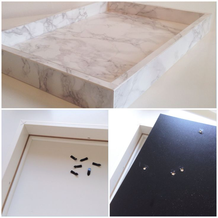 Make your own marble tray