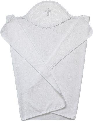 Подробнее о товаре Little People, Крестильное полотенце 110х75 (белый/серебро)