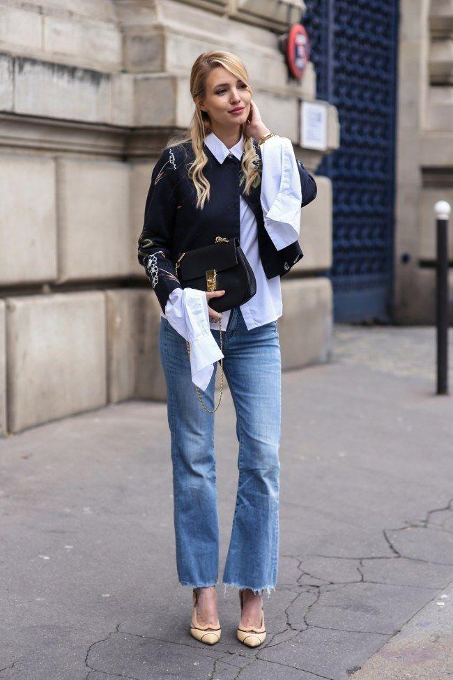 Perfekt für den Lagen-Look: Blusen mit langen Armen und kurze Pullover