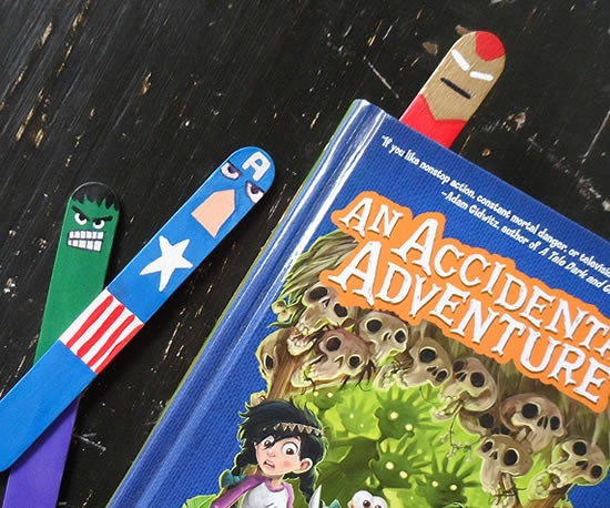 artesanato-com-palito-de-picole-1: Books, For Kids, Crafts Projects, Geek Crafts, Avengers Bookmarks, Super Heroes, Popsicles Sticks, The Avengers, Crafts Sticks