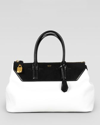 Classic and anything but basic. Two-Tone Medium Petra Bag by Tom Ford at Bergdorf Goodman.