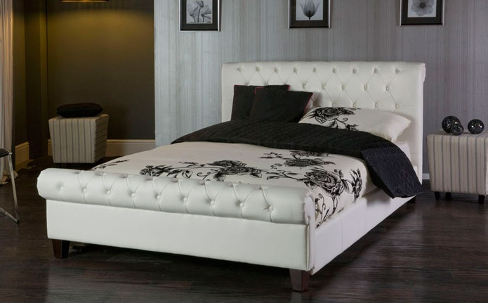 Phoenix Bed http://www.furniturechoice.co.uk/Bedroom-Furniture/Leather-Beds/Phoenix-White-Leather-Double-Bed_LB10000226.htm
