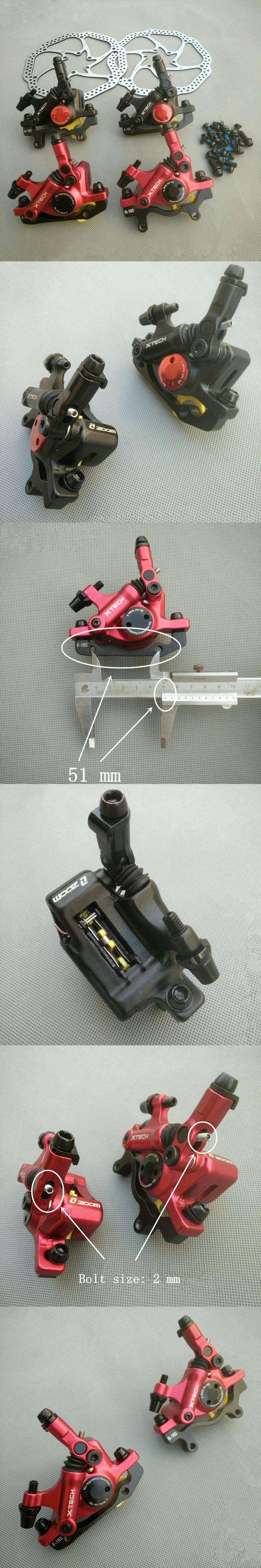 New line pulling hydraulic brake ZOOM HB-100 bicycle hydraulic disc brake caliper bicycle disc brake kit bike accessories