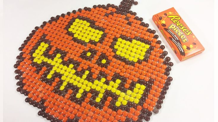 Drawing a Jack Skellington Pumpkin with REESE'S PIECES | Halloween Candy...