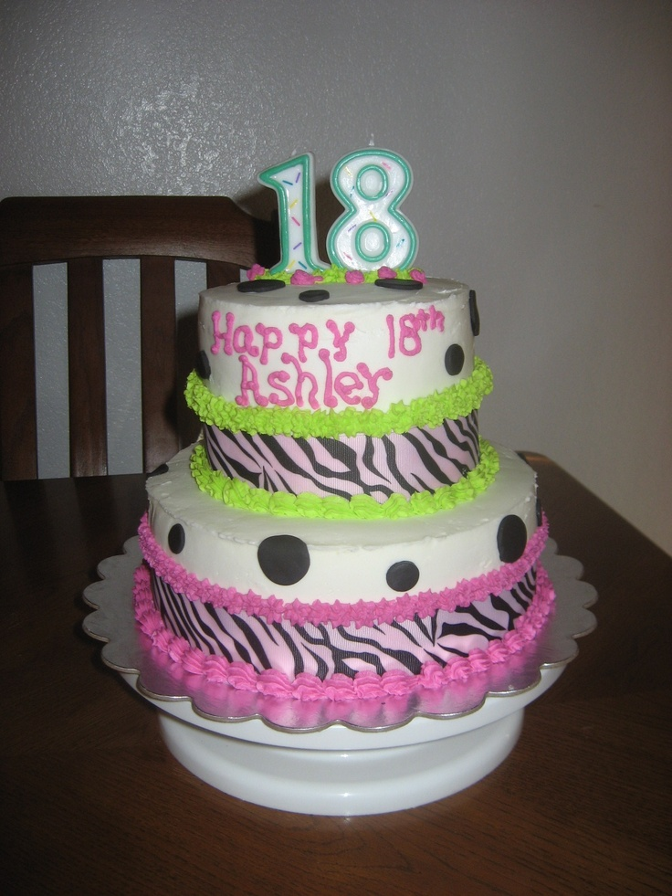 Happy 18th birthday daughter cake for 18th birthday cake decoration